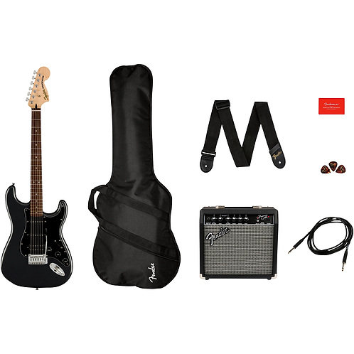 Affinity Series Stratocaster HSS Electric Guitar Pack with Fender Front - Squier