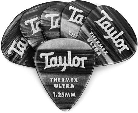 Premium 351 Thermex Ultra Picks Black Onyx 1.00mm, 6-Pack : Taylor