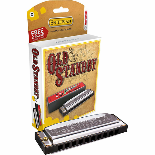Old Standby Harmonica - Key of F - Hohner
