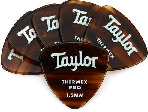 Premium Darktone 346 Thermex Pro Guitar Picks 6-pack 1.50mm : Taylor