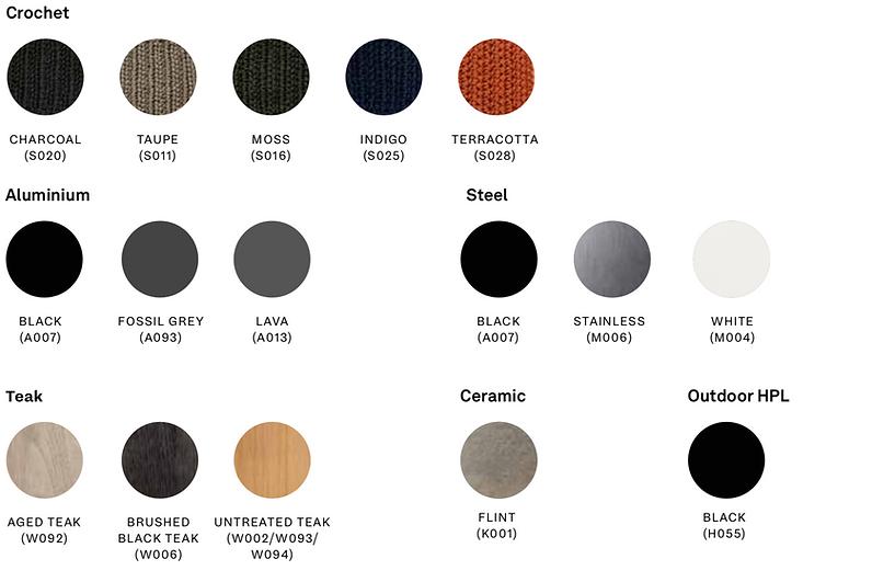 Colours Outdoor_Crochet_Aluminium_Steel.