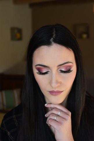make up prononcé avec faux cils