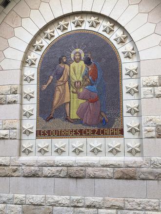 Station 3: Sanhedrin tries Jesus.