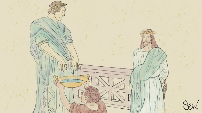Station 5: Pilate sentences Jesus.