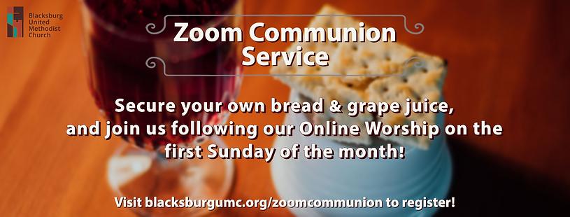 Zoom Communion Banner instagram graphic.