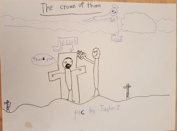 Station 6: Jesus wears the crown.