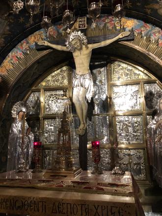 Station 13: Jesus dies on the cross.