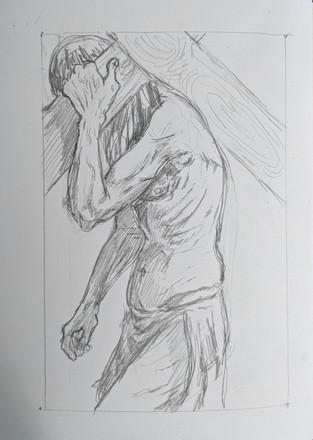 Station 8: Simon carries cross.