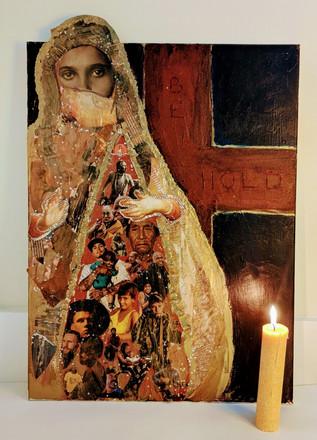 Station 12: Jesus speaks to Mary, John.