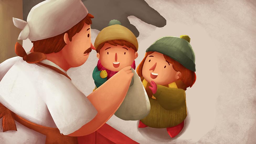 5. Pottato seller gave warm boiled potat