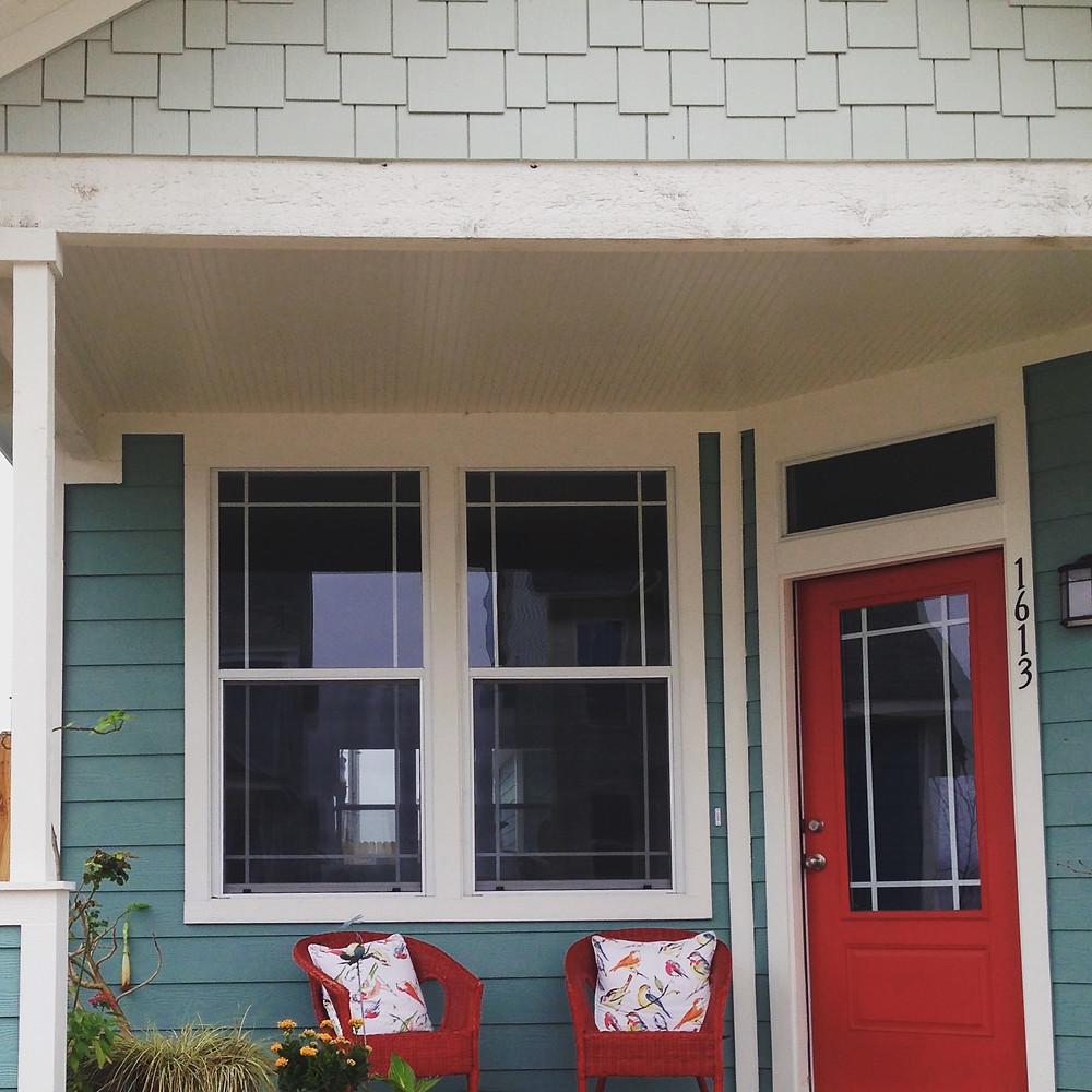 Welcoming red door
