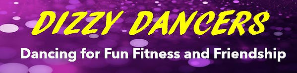 This is the dancing school logo. It says Dizzy Dancers , dancing for fun, fitness and friendship.
