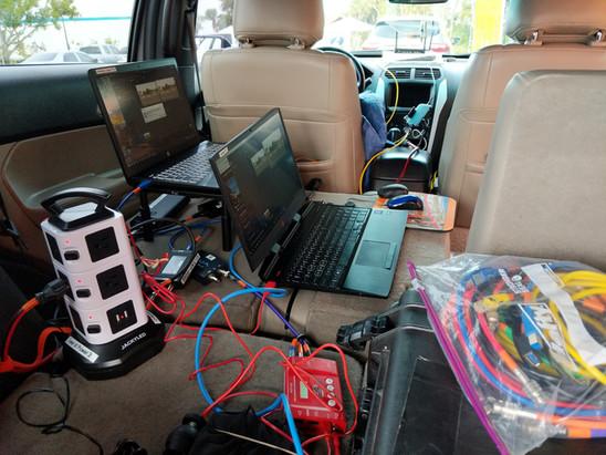 Back seat encoding setup