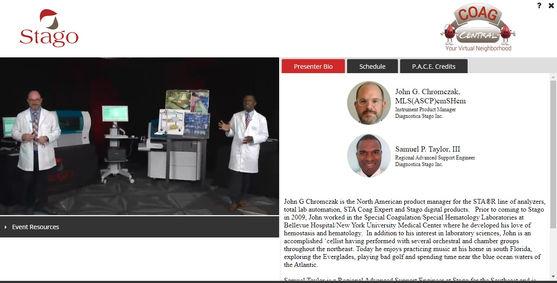 Live symposium webinar