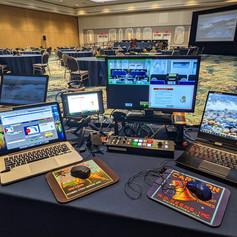 Zoom live stream conference encoding workstation