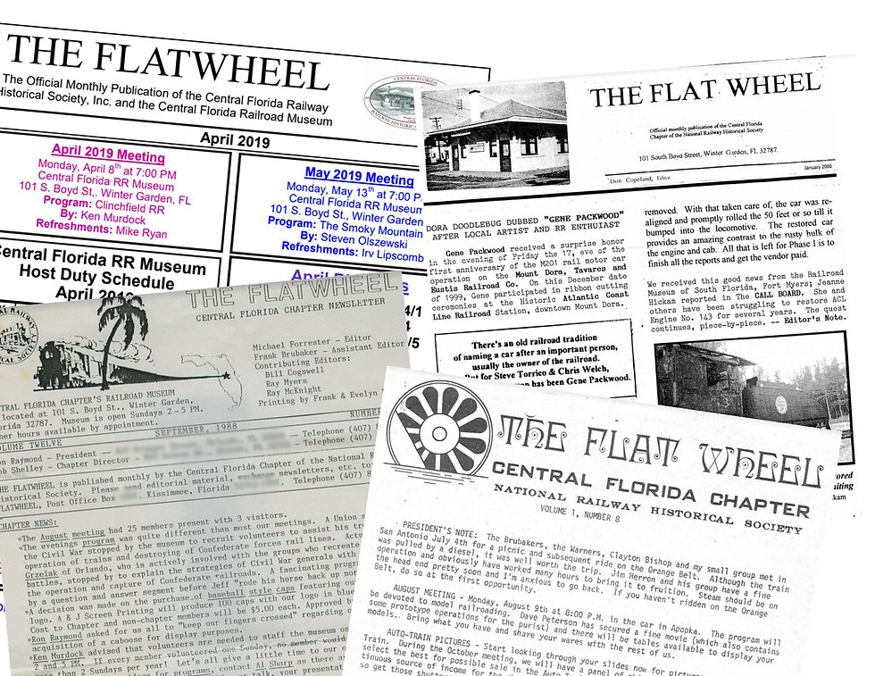 Flatwheel Covers from the Central Florida Railway Historical Society