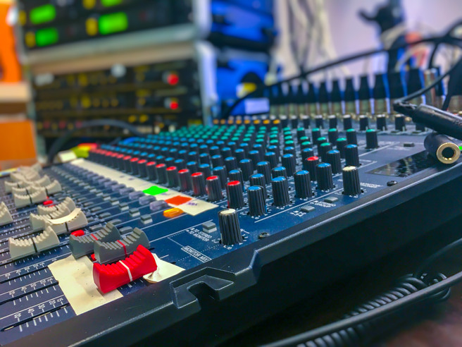 Audio board at the ready