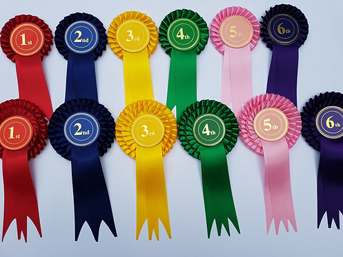 2 Tier Stock Rosettes (Placing 1st - 6th)