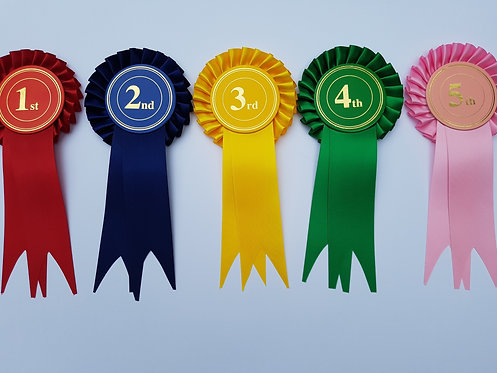 1 Tier Stock Rosettes (Placing 1st - 4th)