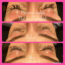 fixing a clients bad eyelash extensions from another technician