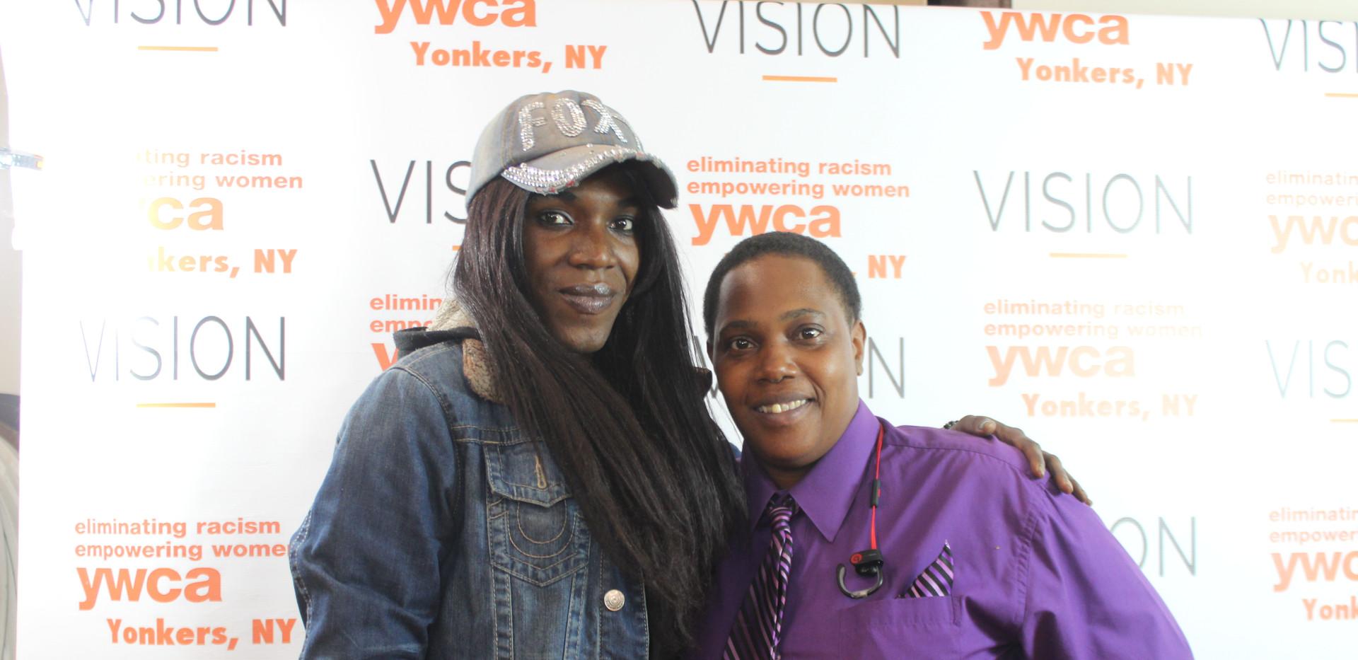 Guest speaker Nicole with Y team member Starr