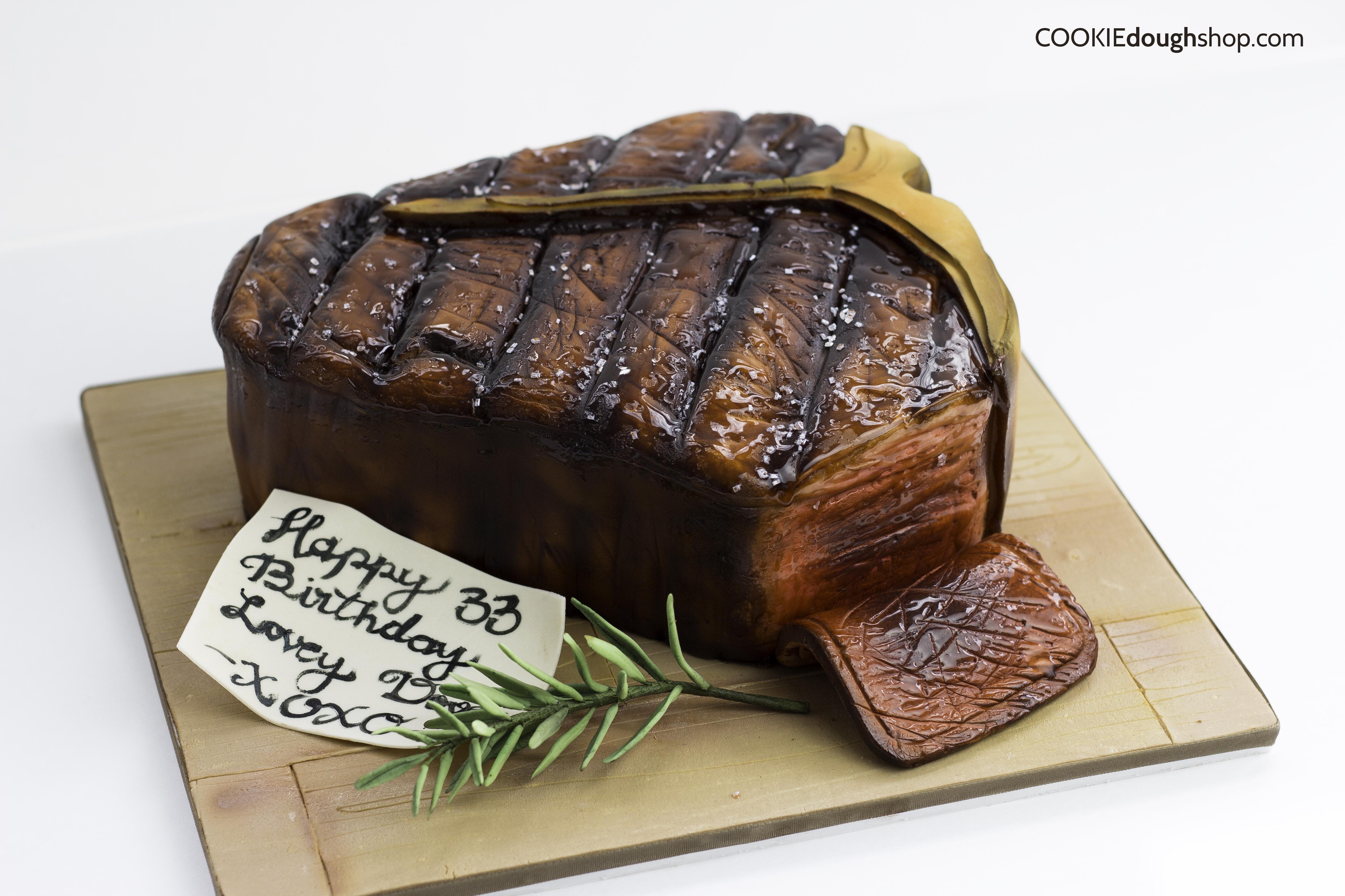 Porterhouse steak cake