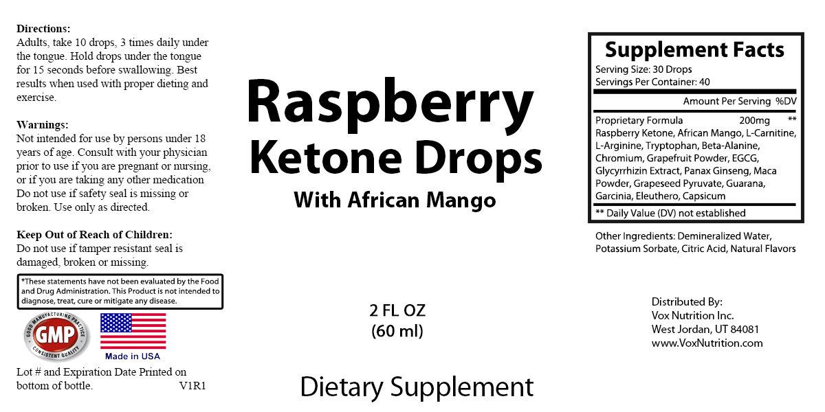 Raspberry Ketone Liquid Drops
