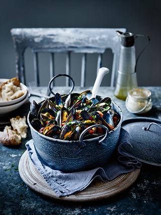 Portuguese Mussels Stew