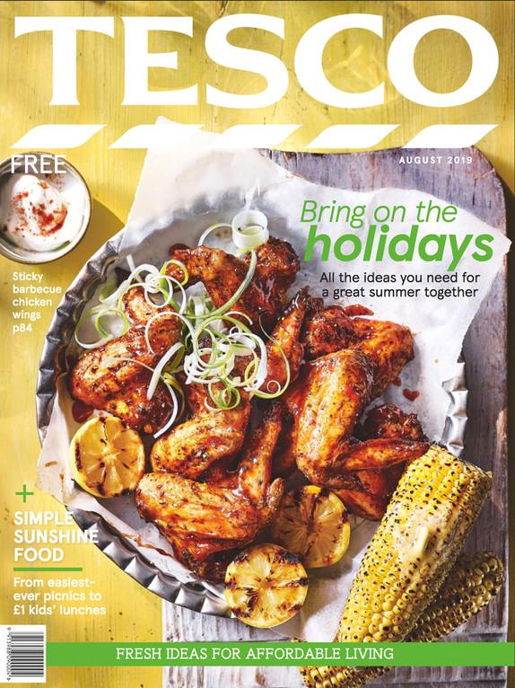 Tesco Magazine August 2019 Cover