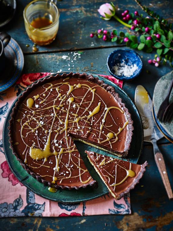 Salted Maple Chocolate Tart