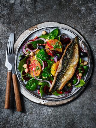 Blood Orange And Mackerel Salad