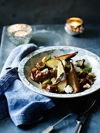 Roasted Jerusalem Artichoke Pear Brazil Nuts