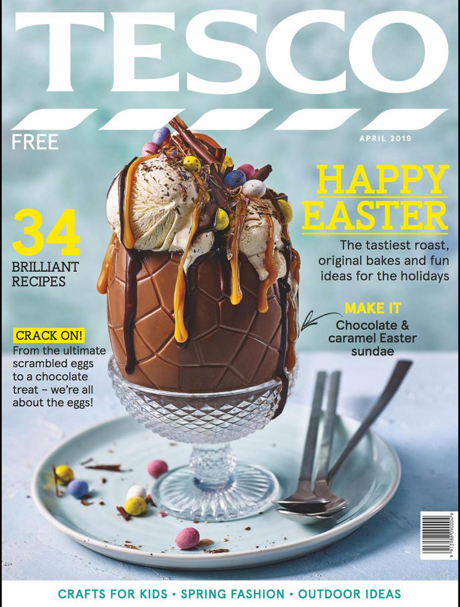 Tesco Magazine Cover April 2019