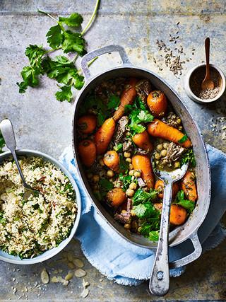 Cumin Carrot Chickpea & Lamb Tagine