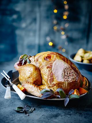 Pork Sage Onion Stuffed Turkey
