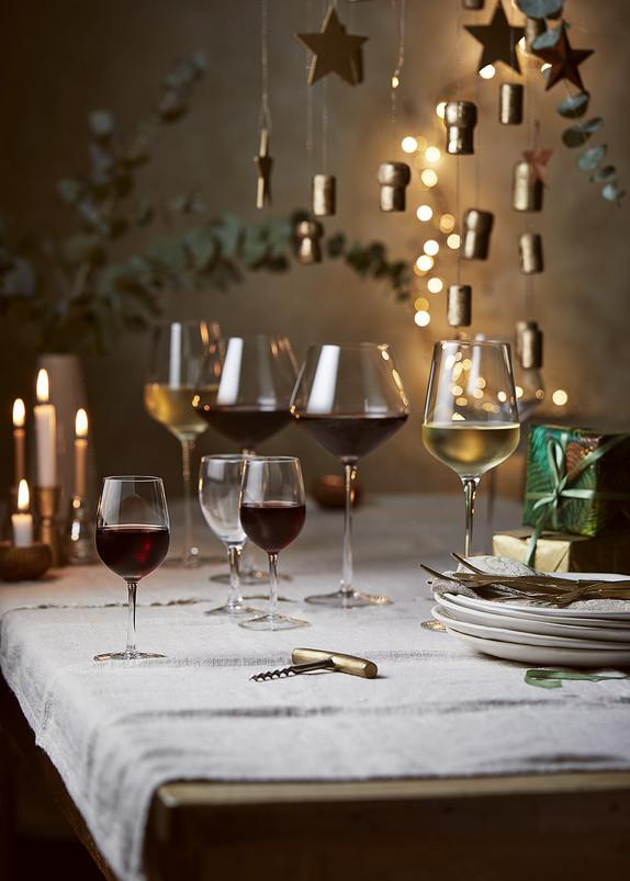 Wine on Table Setting