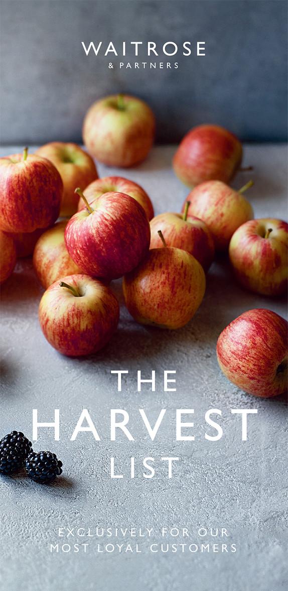 Waitrose The Harvest List Autumn 2019