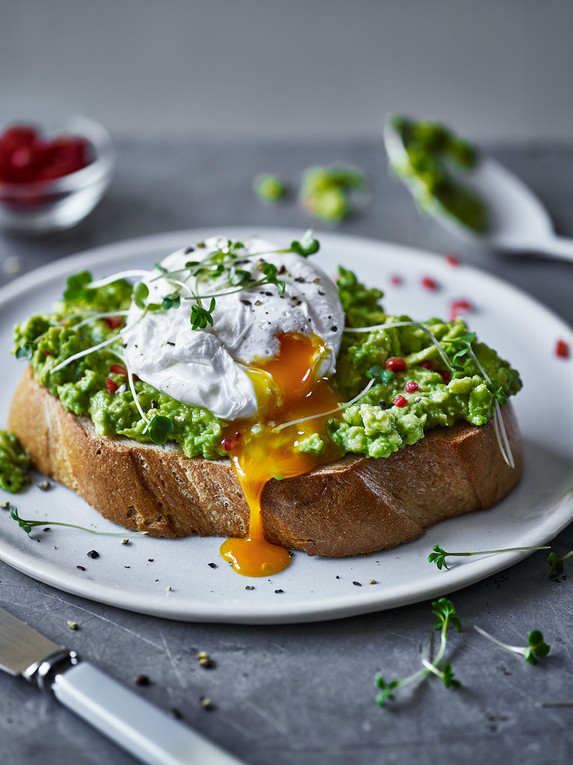 Poached Egg with Avocado on Toast