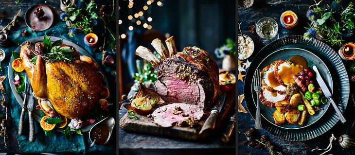 Christmas Sainsburys Turkey and Rib of Beef