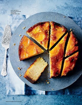 Caramelised Apricot Ricotta Cake