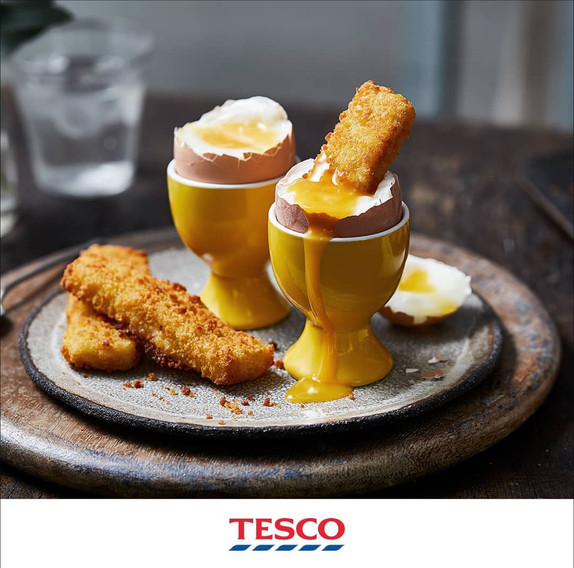 Tesco Fish Fingers and Boiled Egg