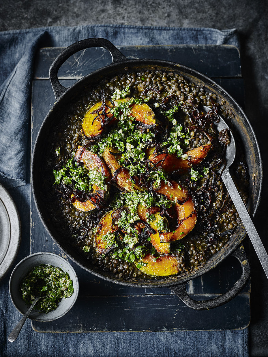 Pumpkin Topped Black Dhal
