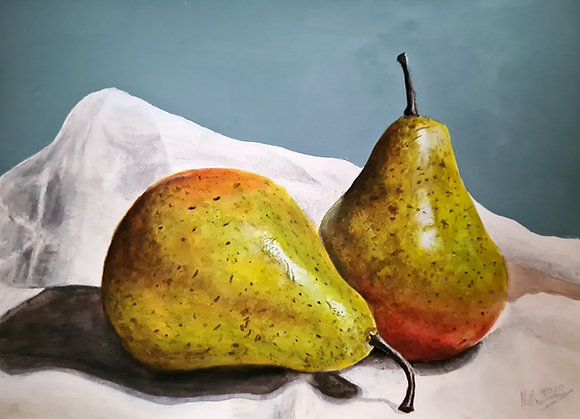 Pears on Linen