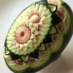 #板橋区 #arohanui #カービング教室 #スイカ#watermelon #fruitscarving #フルーツカービング