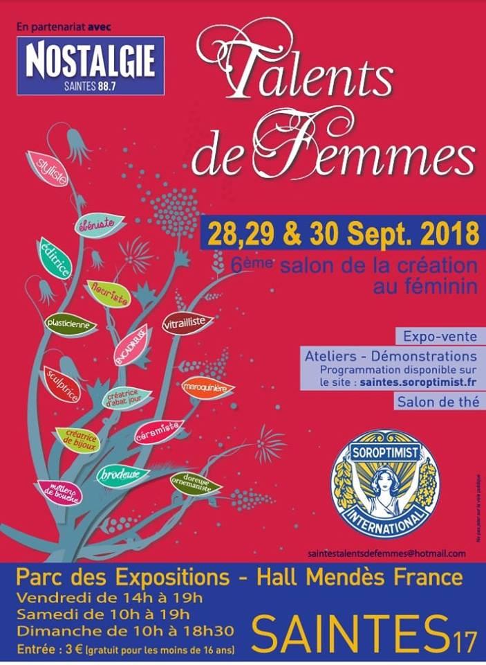 Salon Talents de Femmes Saintes Club Soroptimist