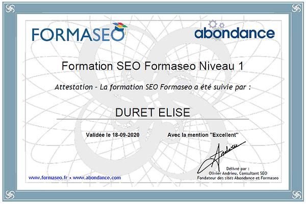 Formation rédaction web SEO Formaseo