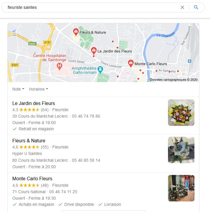 Résultats recherche locale