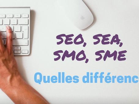 SEO, SEA, SMO, SEM, quelles différences ?