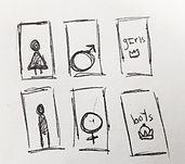 Restroom Sketches