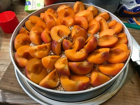 glutenfreier Aprikosen-Mandel-Kuchen mit Zimt-Topping